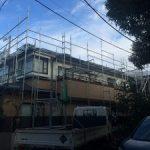 一般住宅太陽光発電用足場工事 東京都目黒区 2016年2月