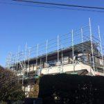 一般住宅太陽光発電用足場工事 東京都世田谷区 2016年2月