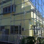 一般住宅塗装用足場工事 千葉県八街市 2014年5月