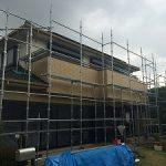 一般住宅塗装用足場工事 千葉県千葉市 2014年6月