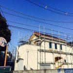 一般住宅太陽光発電用足場工事 東京都練馬区 2015年2月
