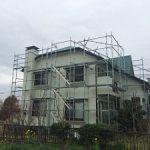 一般住宅塗装用足場工事 千葉県市原市 2015年2月