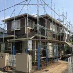 一般住宅塗装用足場工事     千葉県市原市 2015年3月