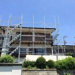 一般住宅塗装用足場工事 千葉県船橋市 2015年4月