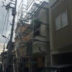 一般住宅太陽光発電用足場工事 東京都練馬区 2015年5月