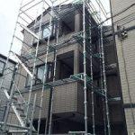 一般住宅太陽光発電用足場工事 東京都墨田区 2015年6月