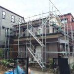 一般住宅塗装用足場工事 東京都江戸川区 2015年7月
