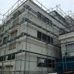 テナントビル塗装用足場工事 東京都江戸川区 2015年8月