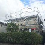 一般住宅塗装用足場工事     千葉県市原市 2015年9月