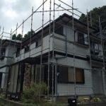 一般住宅塗装用足場工事 千葉県千葉市 2015年8月