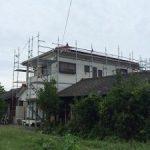 一般住宅太陽光発電用足場工事 千葉県鴨川市 2015年9月