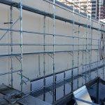 商業施設外壁改修用足場工事 千葉県佐倉市 2014年9月