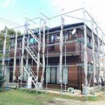 一般住宅塗装用足場工事 千葉県八街市 2015年10月