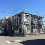 集合住宅塗装用足場工事 千葉県市川市 2015年10月