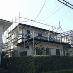 一般住宅塗装用足場工事 千葉県市原市 2015年11月