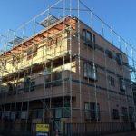 集合住宅塗装用足場工事  千葉県市川市 2015年12月