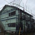 一般住宅塗装用足場工事 千葉県八街市 2014年10月