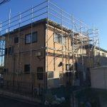 太陽光発電用足場工事 千葉県鎌ヶ谷市 2014年11月