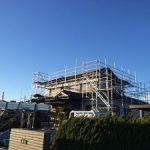 一般住宅太陽光発電用足場工事 千葉県木更津市 2014年12月