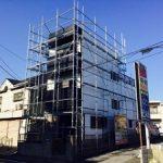 一般住宅塗装用足場工事  千葉県船橋市 2015年1月